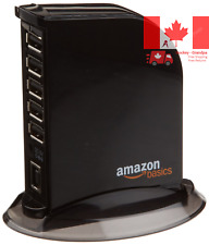 AmazonBasics 7 Port USB 2 0 Hub Tower with 5V 4A Power Adapter