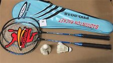 New High Quality BADMINTON 2 RACKETS/2 Goose Feather SHUTTLES/Leather Bag