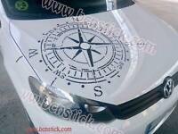 Adhesivo vinilo calcomania Rosa de viento estilo gastado 4x4 coche offroad