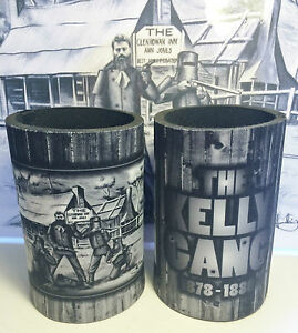 """4 AWESOME NED KELLY """"KELLY GANG"""" STUBBY HOLDERS, MAN CAVE, COOLER, OUTLAWS. BEER"""