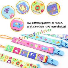 Newborn Cartoon Baby Dummy Chain Pacifier Clip Holder-Soother Nipple Strap Chain