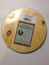 "M00962 MOREZMORE 1 Unfinished 8"" Round Wood Base Imperfect Wooden Plaque NDY"