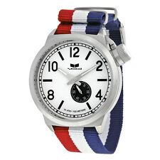 Vestal Canteen Zulu White Dial Nylon Strap Mens Watch CAN3N01