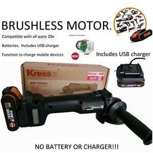 Brushless Cordless Angle Grinder KRESS - WORX WX800.9 20V MAX  - BODY ONLY