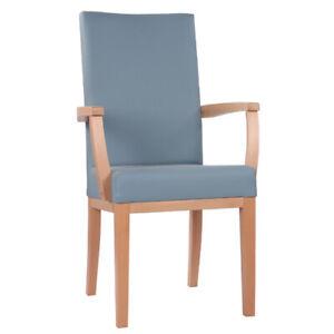 Seniorenstuhl, Sitzhöhe 51 cm, sofort lieferbar, Gestell mass. Buche ex.Qualität