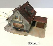 Kibri 8084 H0 Einfamilienhaus mit Garage, Haus 1:87, farblich gealtert , Unikat