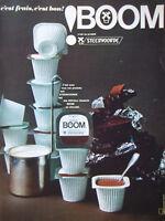 PUBLICITÉ DE PRESSE 1964 BOOM C'EST UN PRODUIT STEERVOORDE - ADVERTISING