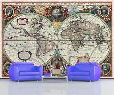 ANTIQUE WORLD MAP 16th CENTURY GLOBE MAP Photo Wallpaper Wall Mural  335x236cm