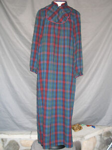 Victorian Night Shirt Edwardian Civil War Prairie Style Girl's Women's Plaid