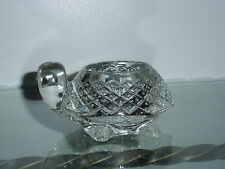 Heavy Clear Glass Avon Turtle Votive Candle Holder