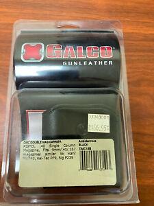 Galco DMC Double Mag Carrier Black (9mm, .40, .357) Single Column (DMC18B)