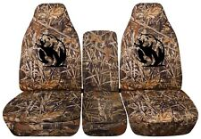 Truck Seat Covers 2018 Chevy Silverado Duck Hunt Camouflage Front and solid Rear