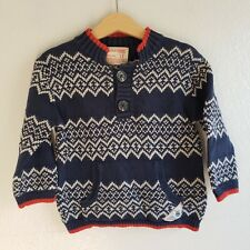 Genuine Kids Toddler Boys Blue Printed Pullover Sweater Size 2T