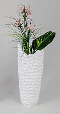 Imposante Deko Vase Blumenvase Bodenvase aus Keramik Murano weiß Höhe 55 cm