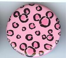 "DISNEY PARKS EXCLUSIVE 1.25"" BUTTON PIN PINK LEOPARD PRINT MICKEY MOUSE LAPEL"