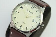 Eichmüller Herren Armbanduhr Titangehäuse Japan Werk  Lederband