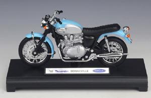 Welly Modèle réduit de moto Miniature TRIUMPH Bonneville 2002 1/18 NEU