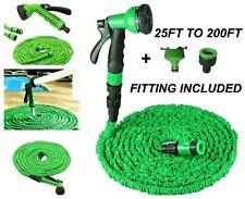 25FT TO 200FT EXPANDABLE FLEXIBLE EXPANDING GARDEN WATER HOSE PIPE Spray Nozzle