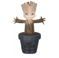 Baby Groot in Halloween Pot SM Marvel Inflatable with Internal Lightning