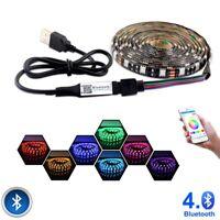 RGB Bluetooth LED Strip Lights Music Phone Control USB Dimmable Light Lamp 5V