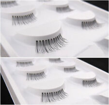 H-WC Handmade 5 pairs winged eye lashes Half MINI Corner False eyelashes
