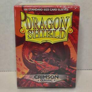 Classic Crimson - 100 ct Dragon Shield Sleeves (Standard Size) Classic