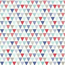 Jester Geometric Wallpaper Red Blue - Arthouse 696007 Triangles