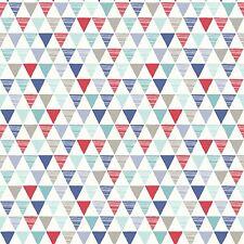 Jester Papel Pintado Geométrico Rojo Azul - Arthouse 696007 triángulos