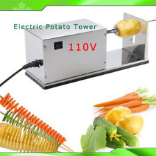 110V USA Automatic Slicer Twister Chips Vegetable Electric Potato Tower Cutter