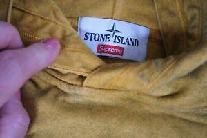 Stone Island/Supreme  colab  Mustard hoodie sweatshirt sz S