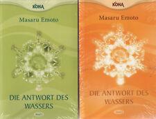 DIE ANTWORT DES WASSERS BAND 1+2 - Masaru Emoto - 2 x BUCH - NEU