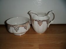 Vintage Royal Albert Milk Jug & Sugar Bowl White & Gold ~ Excellent  1st Quality