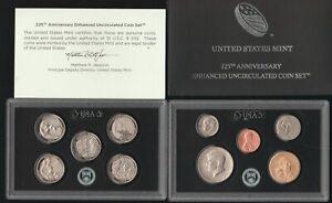 2017 US Mint 225th Anniversary Enhanced Uncirculated Set, OGP & COA