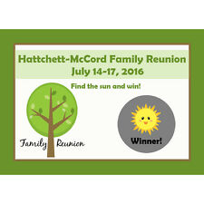 24 Personalized Family Reunion Scratch Off Game Cards - School Reunion - Picnic