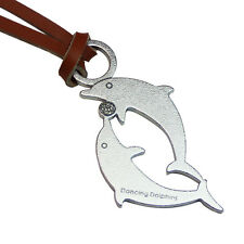 Key Chain Dolphin genuine stainless steel leather strap less fingerprint surface