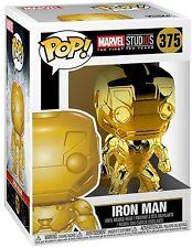 Funko Pop Marvel Studios 10 Gold Chrome Iron Man - Stylized Vinyl Figure 375