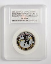 SIDNEY CROSBY Royal Canadian Mint COIN Medallion FIRST GOAL GRADED PENGUINS WOW