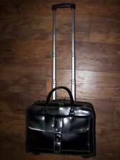 Franklin Covey Rolling Laptop Wheeled Case Bag Travel BLACK Carry-On Briefcase