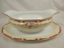 Gravy / Sauce Boat w/ Attached UnderPlate DUBARRY 591 by Noritake China