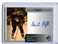 2002 SP Sign of the Times Milan Kraft Penguins #MK Autographed Card jh11