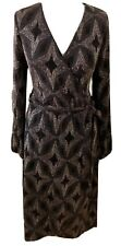 Vintage Style 14 Glittery Wrap Dress 1920's / 1940's Glamour NWT