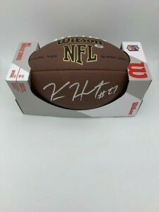 Kareem Hunt Signed Cleveland Browns Wilson NFL Logo Football COA Hologram