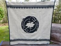 "Pendleton Westland Woven Wool Beige Salmon Blanket  62"" x 64"""