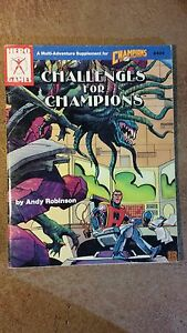Challenges for Chamoions adventure supplement RPG USED! Steve Jackson Games