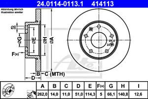 2x ATE Brake Disc For LAND ROVER Freelander SDB100830
