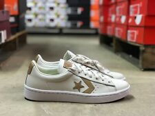 Converse Pro Leather PL 76 Mens Low Top Shoe White/Tan 155668C Sz 9.5 w Lunarlon