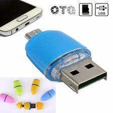 OTG Micro USB A USB2.0 Micro SD TF Tarjeta Lector Adapter PR Android Phone Table