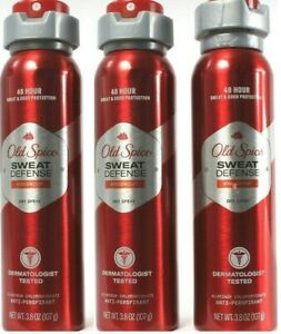(3 Ct) Old Spice Sweat Defense Knockout 48 Hour Antiperspirant Dry Spray 3.8 Oz