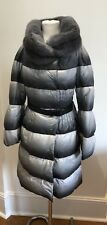 Ermanno Scervino Puffer Grey Jacket With Real Mink Collar