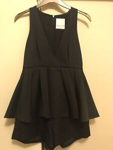 C/MEO COLLECTIVE Playsuit Black Size S